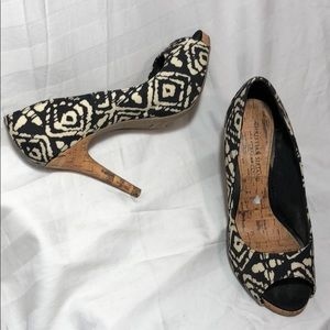 CHRISTIAN SIRIANO Peep toe Print Heels 👠